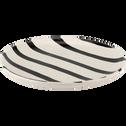Assiette à dessert en faïence blanche D20cm-TAZA