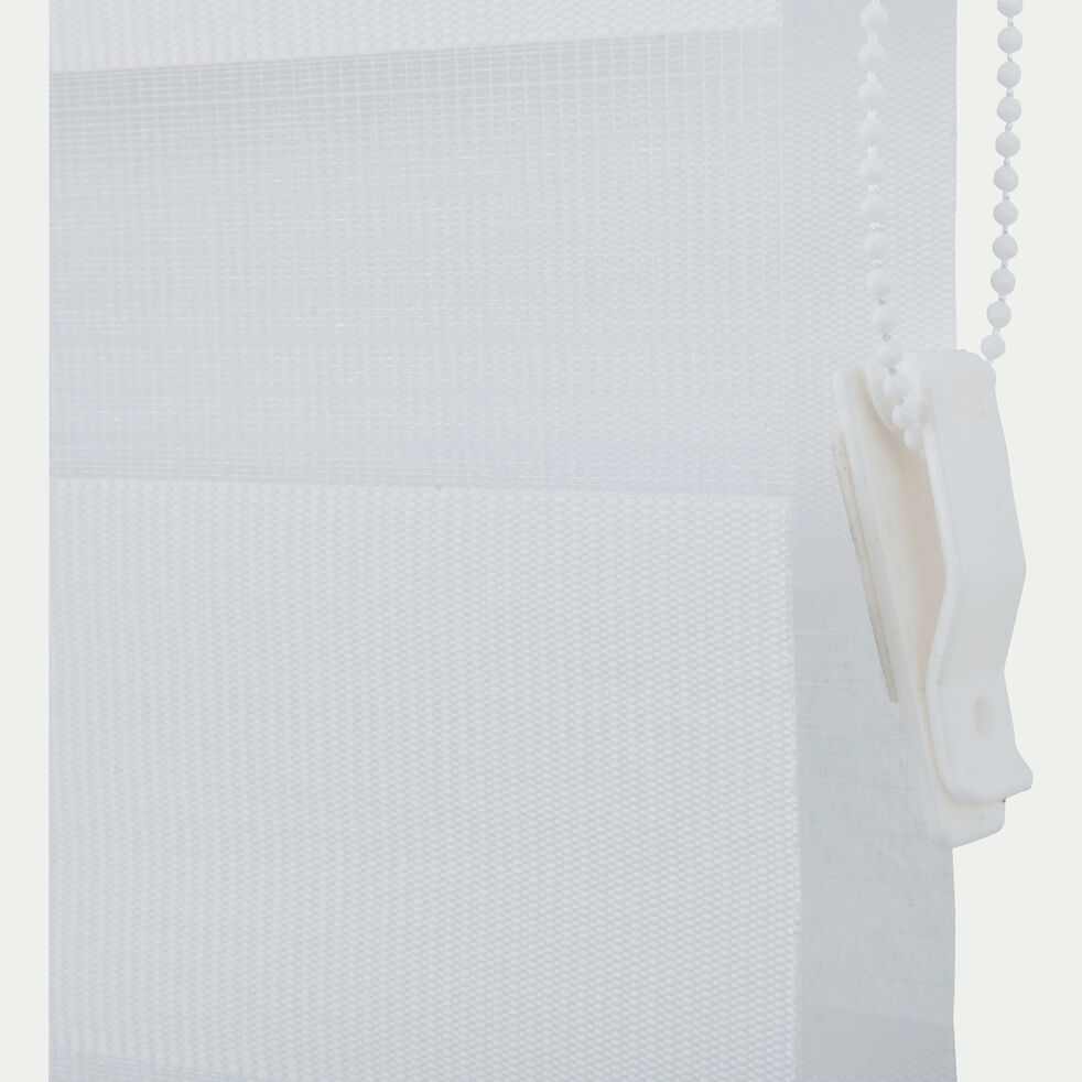 Store enrouleur tamisant - blanc 62x190cm-JOUR-NUIT