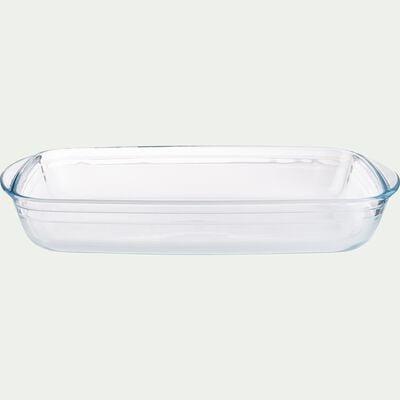 Plat rectangulaire en verre borosilicate 35x22cm-AZET