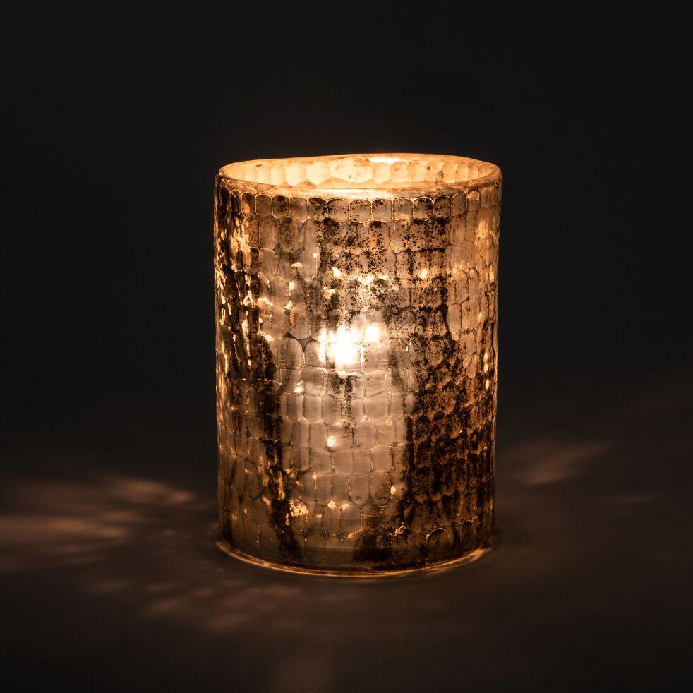 Photophore en verre cuivré D12xH13cm-KAPPA