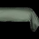 Taie de traversin en coton Vert cèdre 43x125cm-CALANQUES
