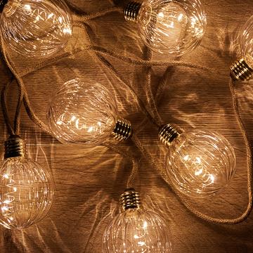 Guirlande corde lumineuse 50 LED blanc chaud 8m-TONI