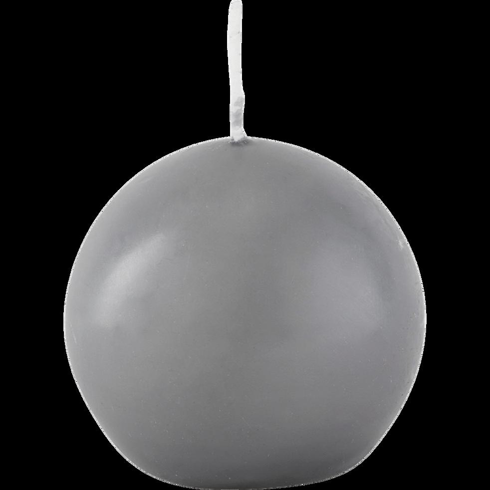 Bougie ronde gris restanque D8cm-HALBA