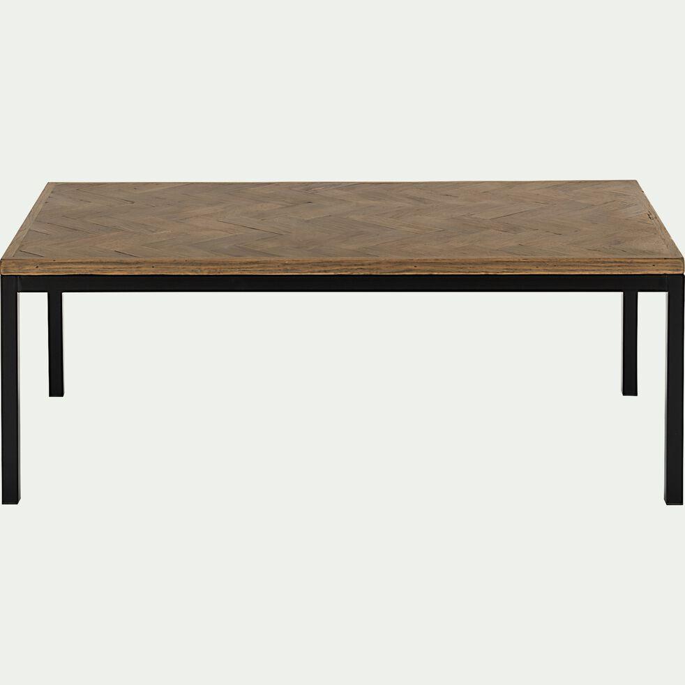 Table basse rectangle en bois recyclé - naturel-BARGA