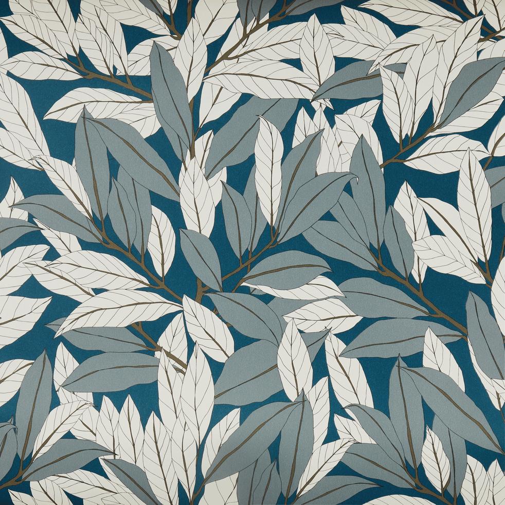 Papier peint intissé motif laurier multicolore 53x10 m-LAURIER