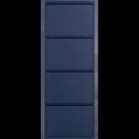 Meuble à chaussures en acier Bleu myrte - 8 paires-LOFTER