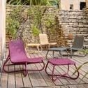 Table basse de jardin en rotin naturel rouge sumac-GERA