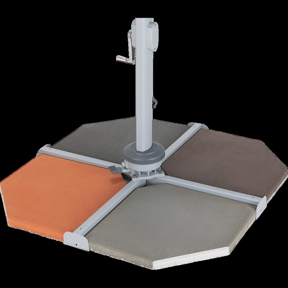 Dalle pour parasol déporté 19,5kg gris borie-VADA