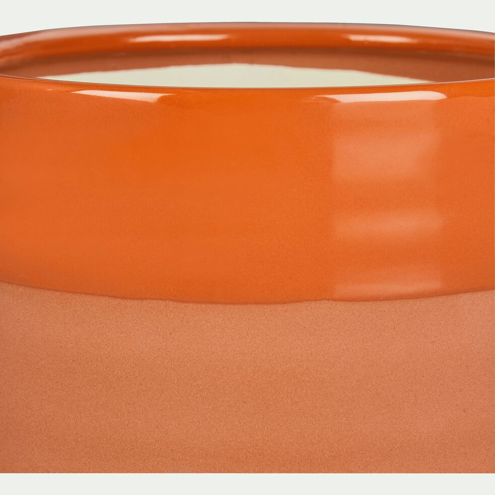 Cache-pot en céramique orange H8,5 cm-MARCO