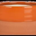Cache-pot en céramique orange H8,5 cm-MARCO