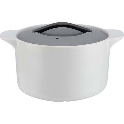 Cocotte en grès blanc 2L-NIVAR