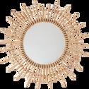 Miroir soleil en bambou - D60cm-EMMA