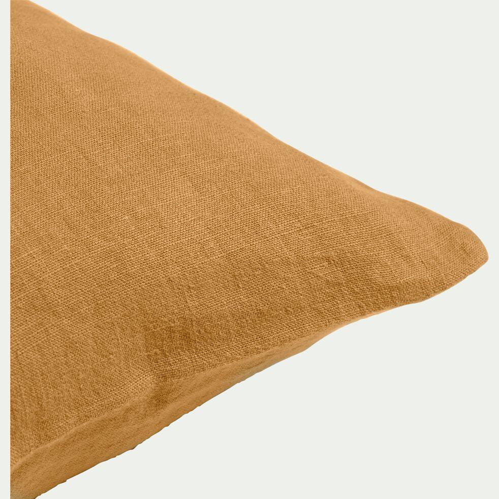 Coussin en lin lavé - beige nèfle 40x60cm-VENCE