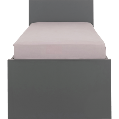 Lit 1 place Gris anthracite - 90x200 cm-COLIN