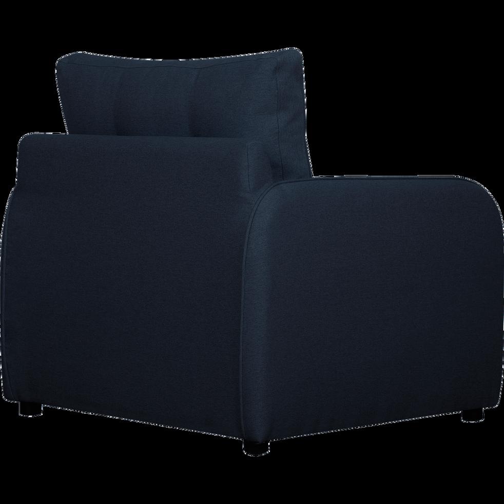 Fauteuil convertible déplimousse en tissu bleu myrte-VINYL
