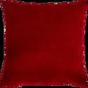 Coussin rouge brodé de fils dorés 40x40cm-OPERA