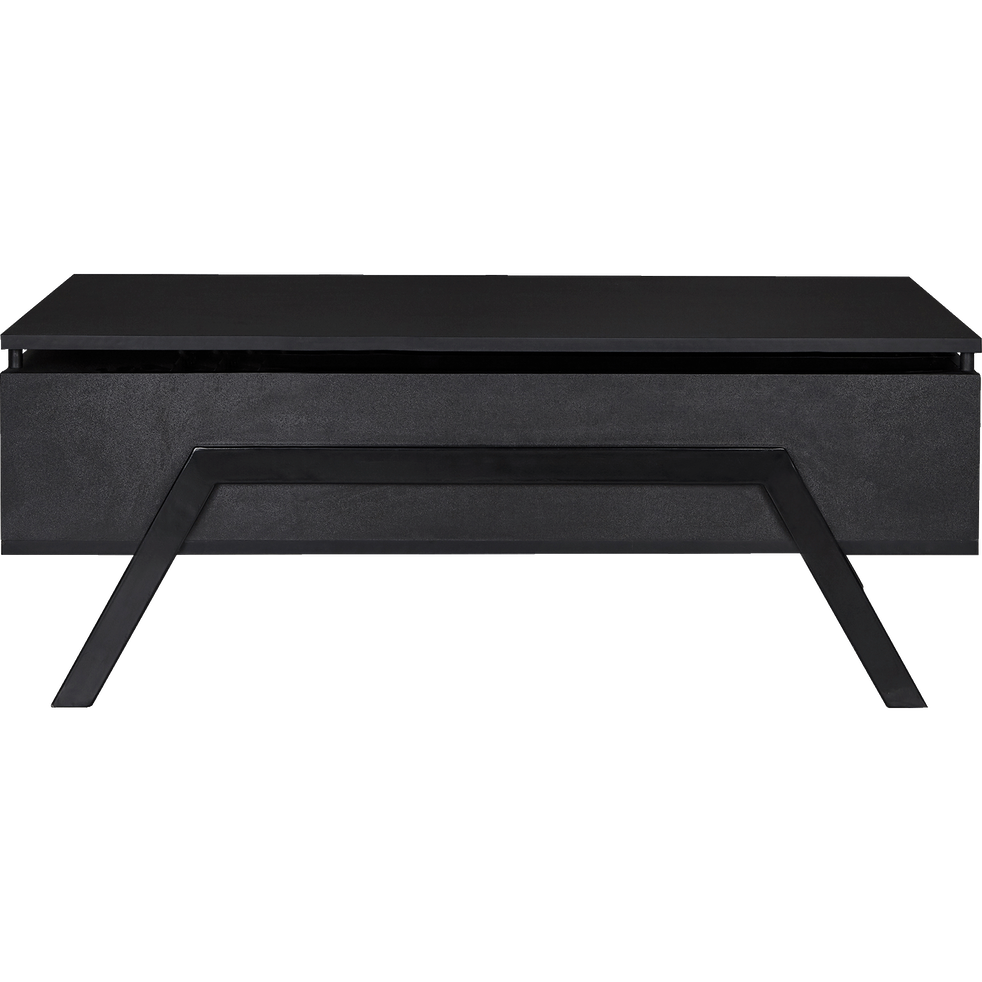 Turn Table Basse Noire Avec Tablette Relevable