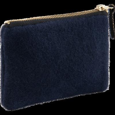 Trousse en velours bleu-SAKURA