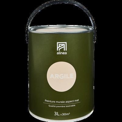 Peinture acrylique mate multi-supports 3L rose argile-PEINTURE