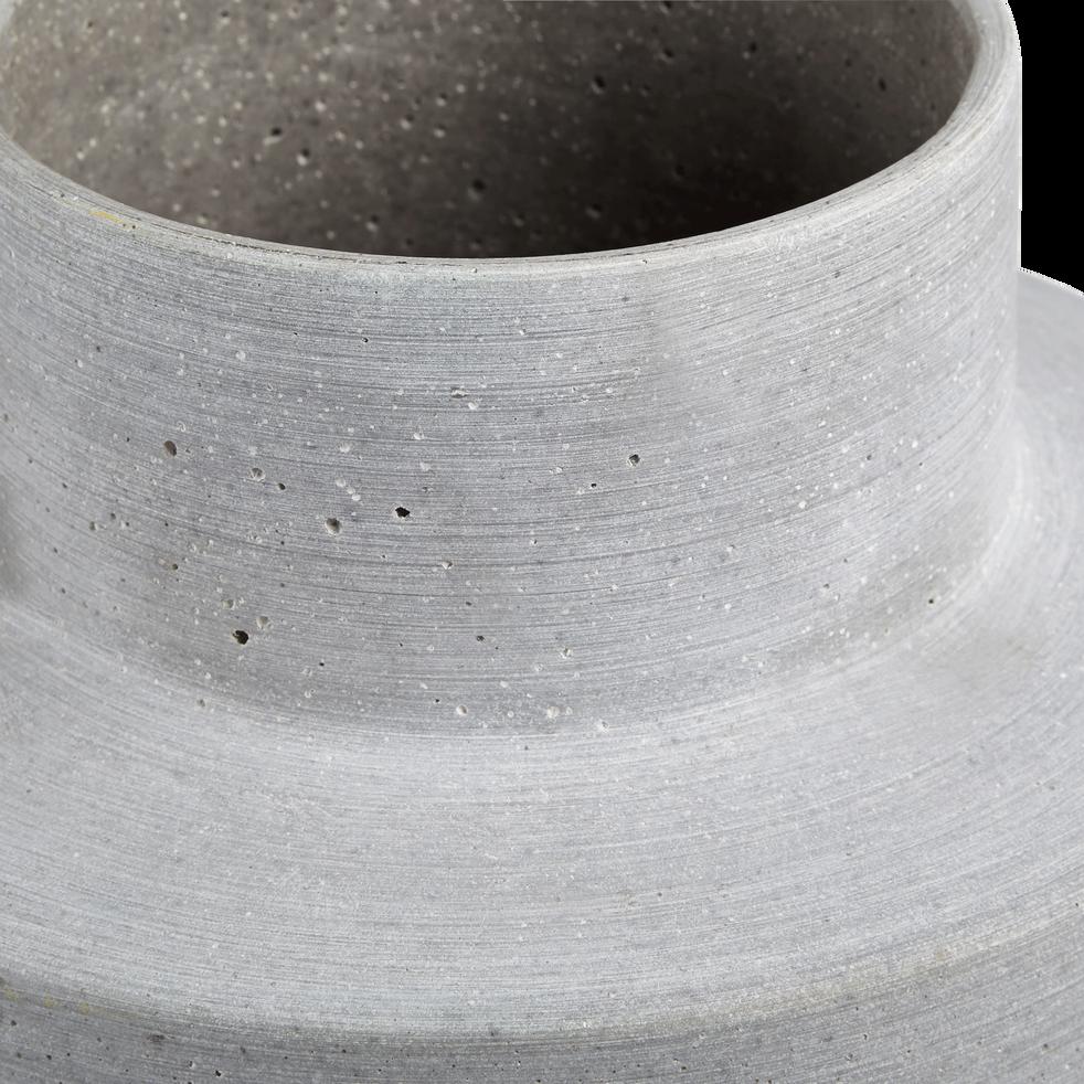 Vase en béton gris h42cm-Sauge