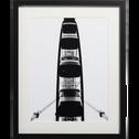 Image encadrée noir et blanc 40x50cm-MEROU