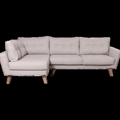 Canapé d'angle fixe gauche en tissu nougat-ICONE