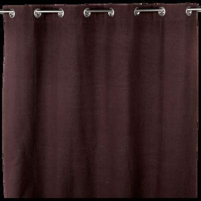 Rideau à œillets marron chocolat 140x250cm-ALMERA