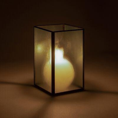 Photophore en fer et verre H16cm-CHARLES