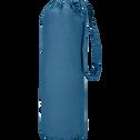 Drap housse en coton bleu figuerolles 160x200cm bonnet 25cm-CALANQUES
