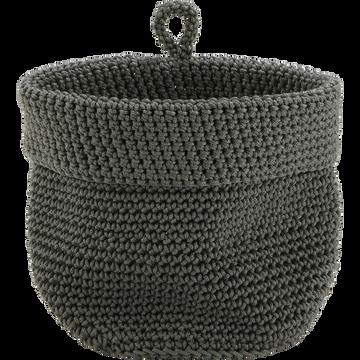 Panier en crochet Vert cèdre Ø15 cm-HONNORE