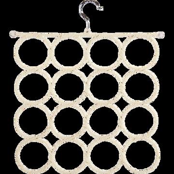 Porte-écharpes beige 16 emplacements-Ernest
