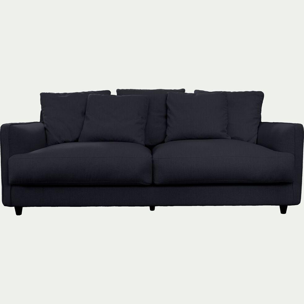 Canapé 3 places fixe en tissu - gris restanque-LENITA