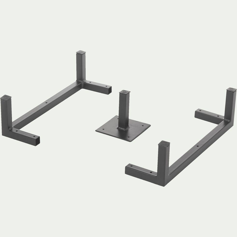 Lot de 3 pieds métalliques-Tassia