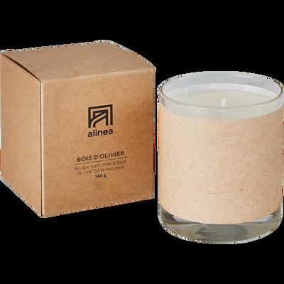 Bougie parfumée senteur bois d'Olivier 140g-BASIC