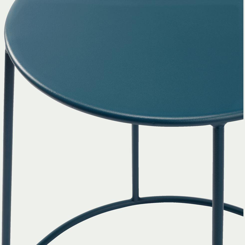 Table d'appoint de jardin - bleu figuerolles D35cmxH44,5cm-IKARIA