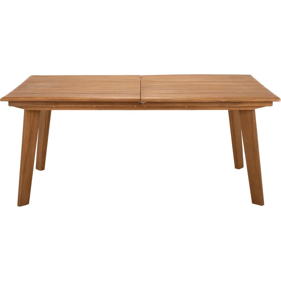 DEGABY - Table de jardin extensible en eucalyptus (6 à 10 places)
