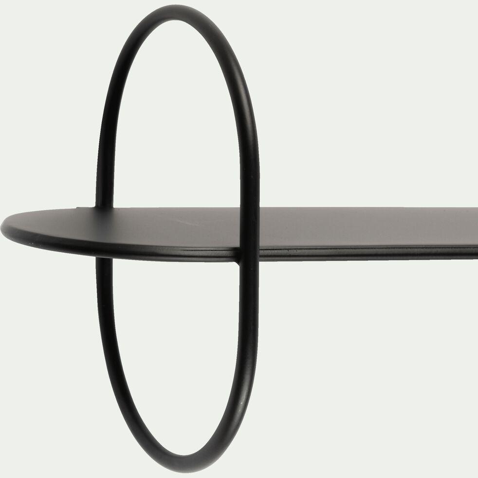 Étagère déco en acier -  L69,5xl25xH18cm noir-EZELINE