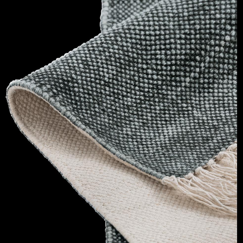 Tapis en coton vert cèdre 100x150cm-PALMA