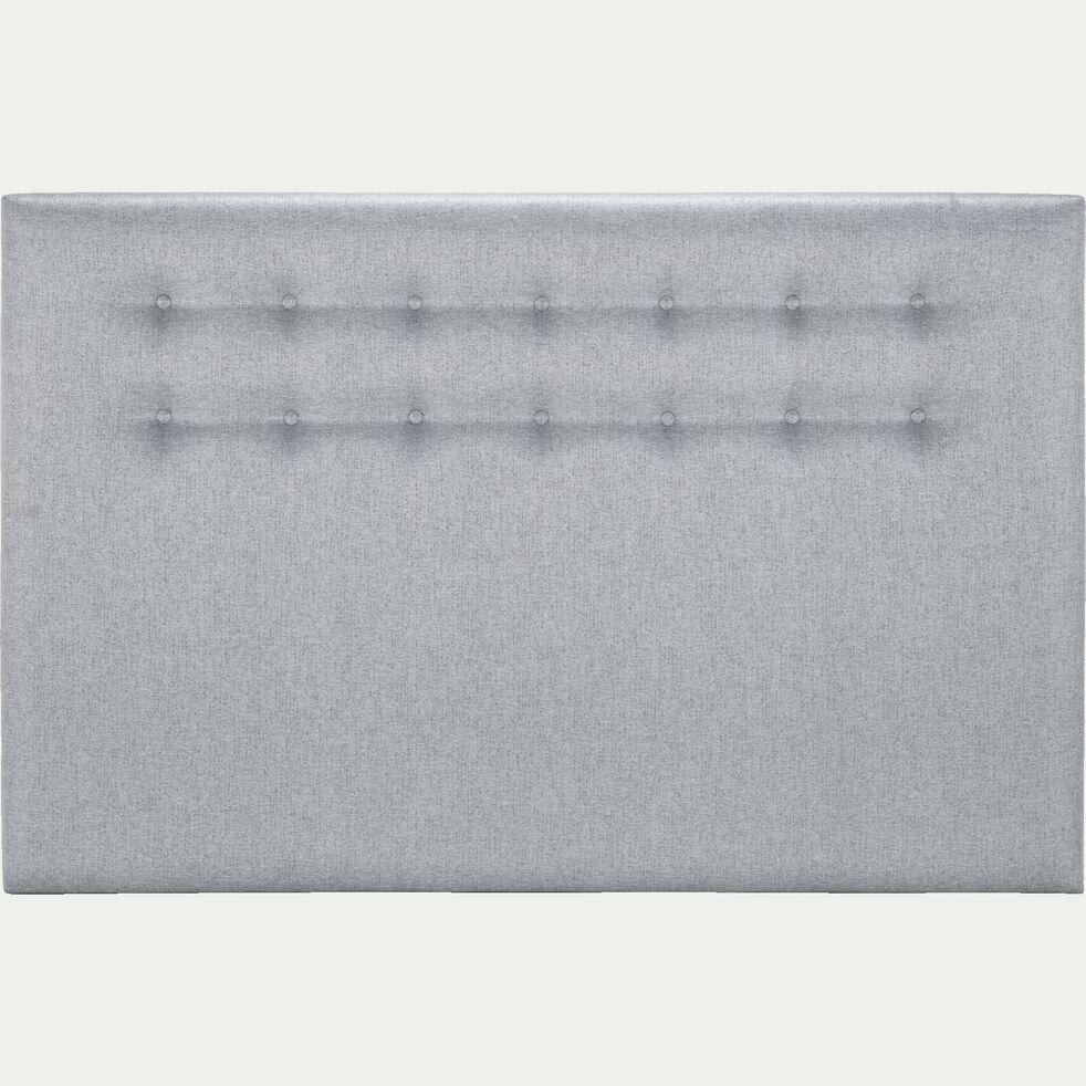 Tête de lit boutonnée gris clair 110X170cm-TIBOULEN