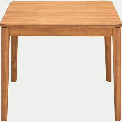 Table de jardin carrée en acacia - naturel (4 places)-ESTILA