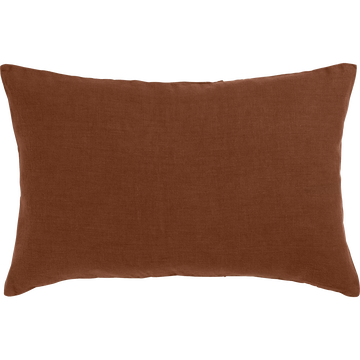 Coussin en lin lavé brun albe 40x60cm-VENCE