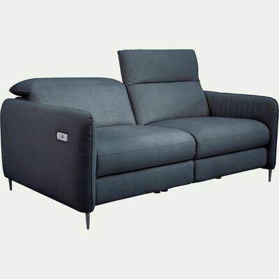 Canapé 3 places relax électrique en tissu - gris restanque-MARSALA