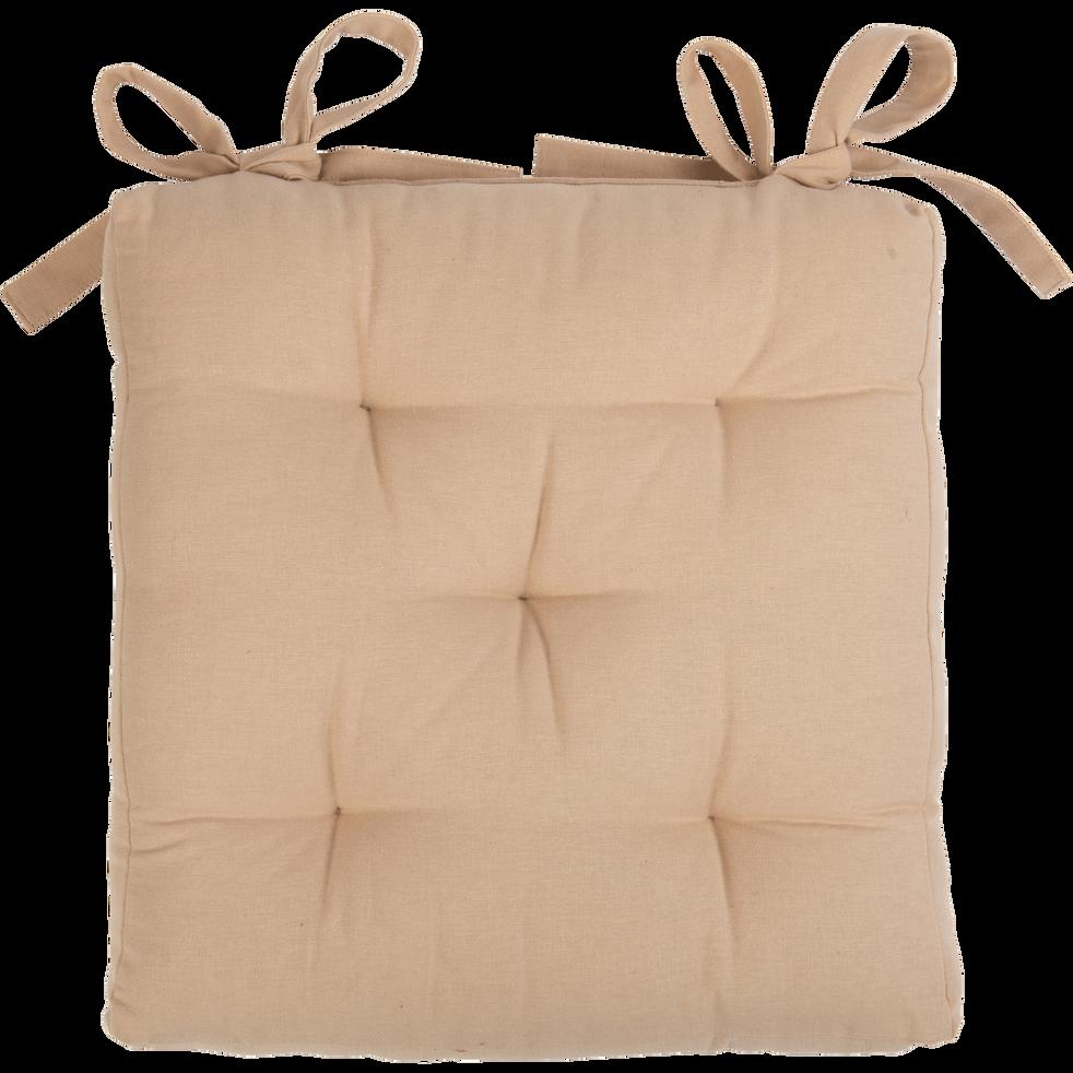 Galette de chaise rose argile 40x40cm-CALANQUES