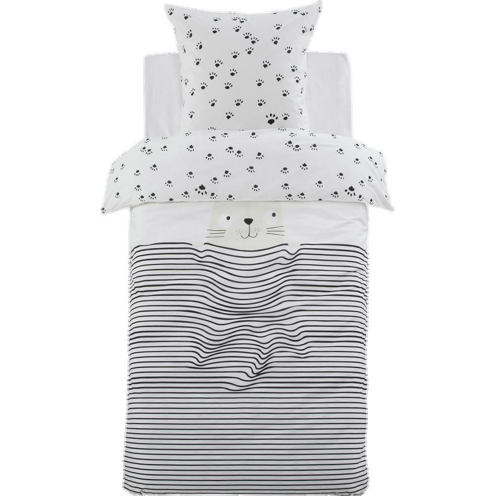 Housse de couette enfant 140X200cm et 1 taie d'oreiller-FELIX