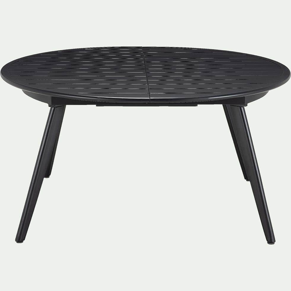 Table de jardin extensible en aluminium - noir 4 à 6 places-CABRIES