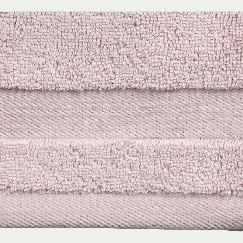 Lot de 2 gants de toilette en coton - rose simos-Rania