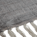 Tapis à franges en coton gris restanque - Plusieurs tailles-FEZ