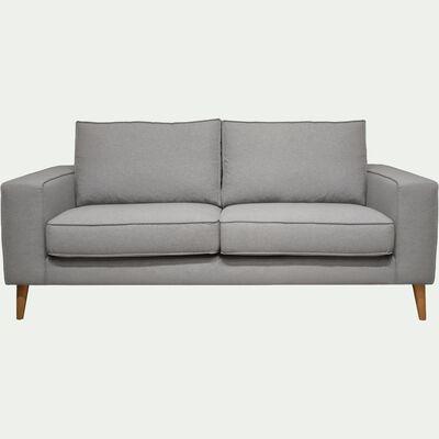 Canapé 2 places fixe en tissu sunday gris clair-CALIFORNIA