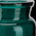 Vase en verre bleu H13cm-IKARIA