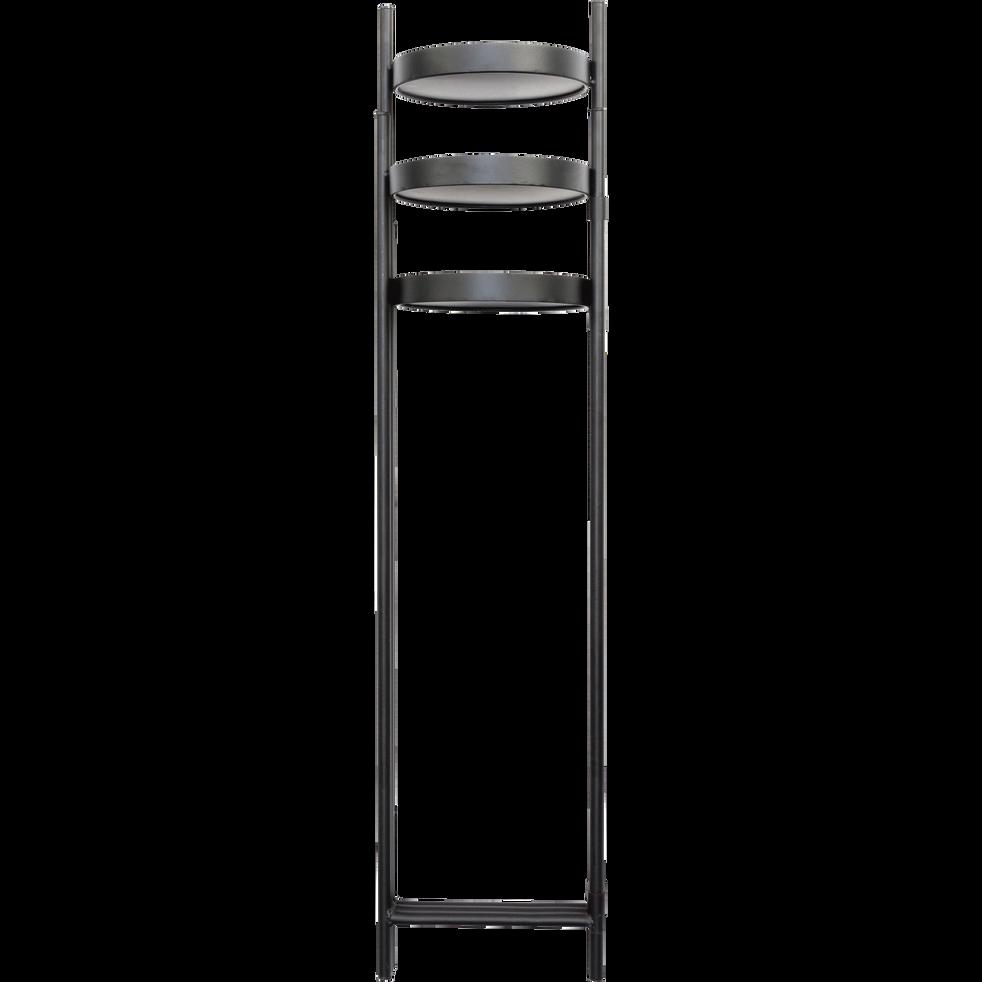 Porte-plante 3 supports en métal noir H90CM-Pise